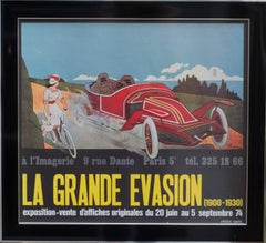 1974 Original exhibition poster for L'imagerie Gallery, Paris