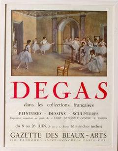 Original 1955 exhibition poster for Edgar Degas exhibition