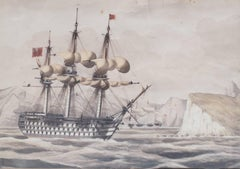 HMS Britannia and HMS Malelina entering Milos Harbour