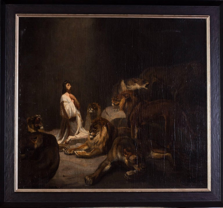 Unknown Animal Painting - Daniel and the lions