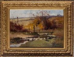 Ducks by a stream