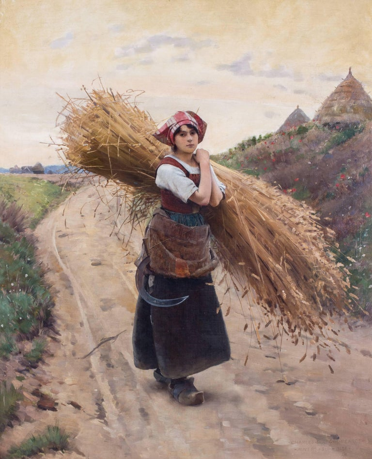 Charles Sprague Pearce Figurative Painting - La petite moissoneuse