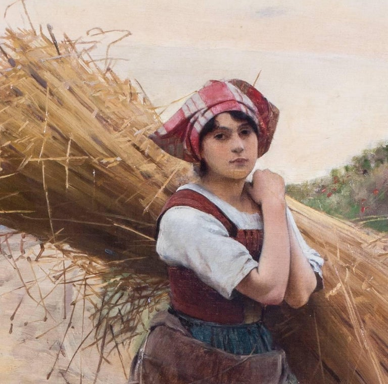 La petite moissoneuse - Painting by Charles Sprague Pearce