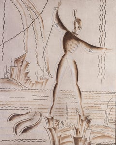An art deco fishing allegory