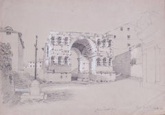 Arch of Janus,  the Forum, Rome, Italy, 1842