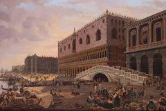 Traders before the Ponte della Paglio, Venice