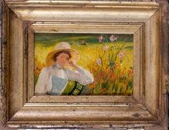 Jeune femme au jardin