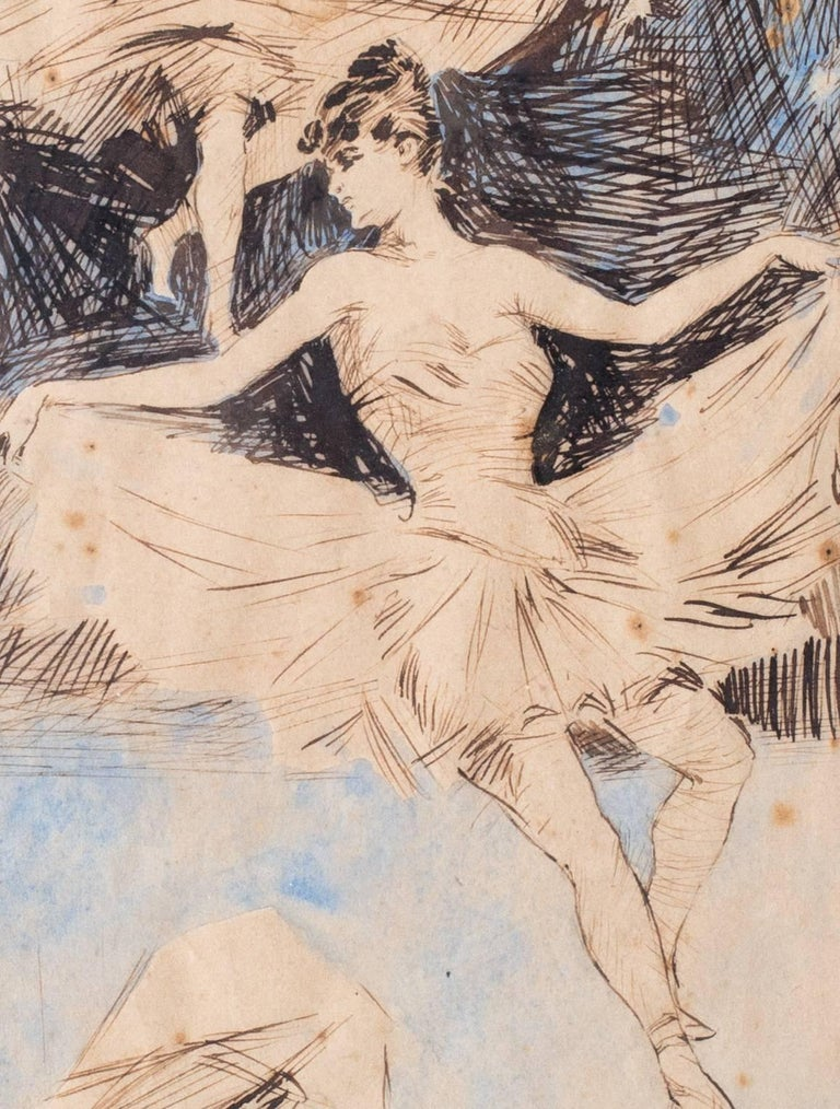 A Ballerina dream sequence - Beige Figurative Art by (Attributed to) Jules Cheret