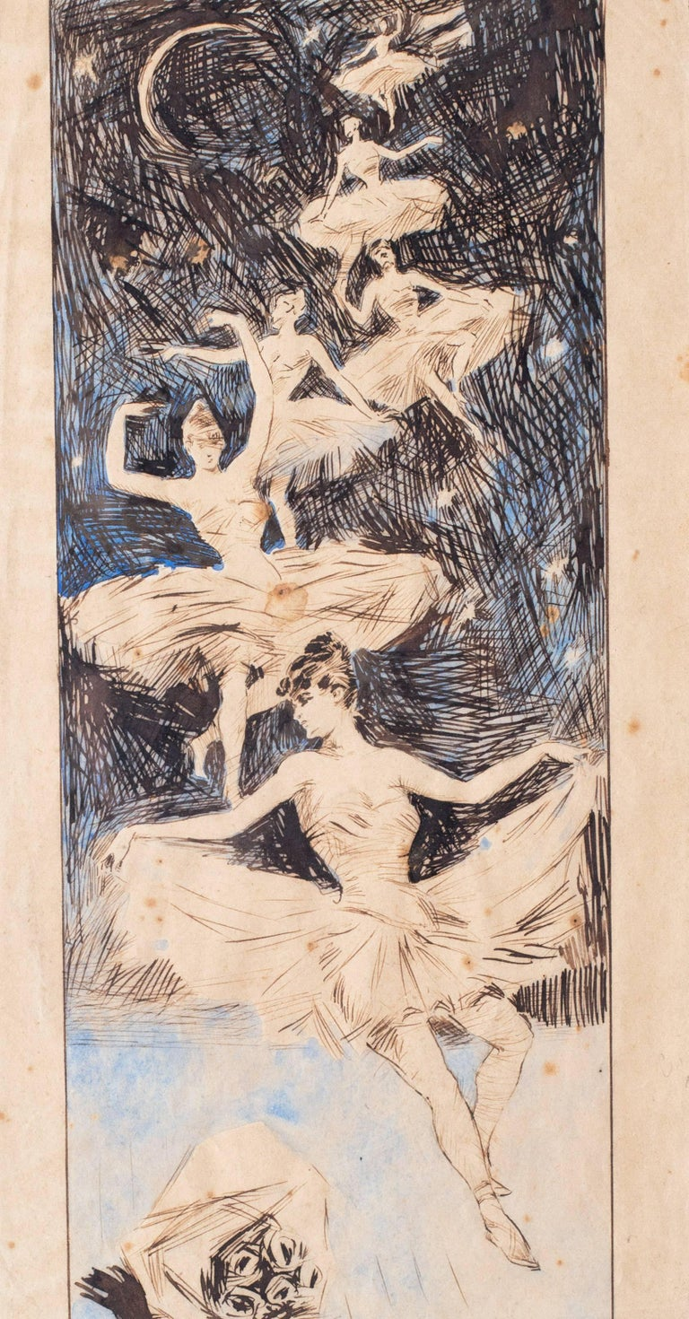 A Ballerina dream sequence - Art by (Attributed to) Jules Cheret