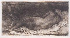 Rembrandt Harmensz. van Rijn - Negress reclining