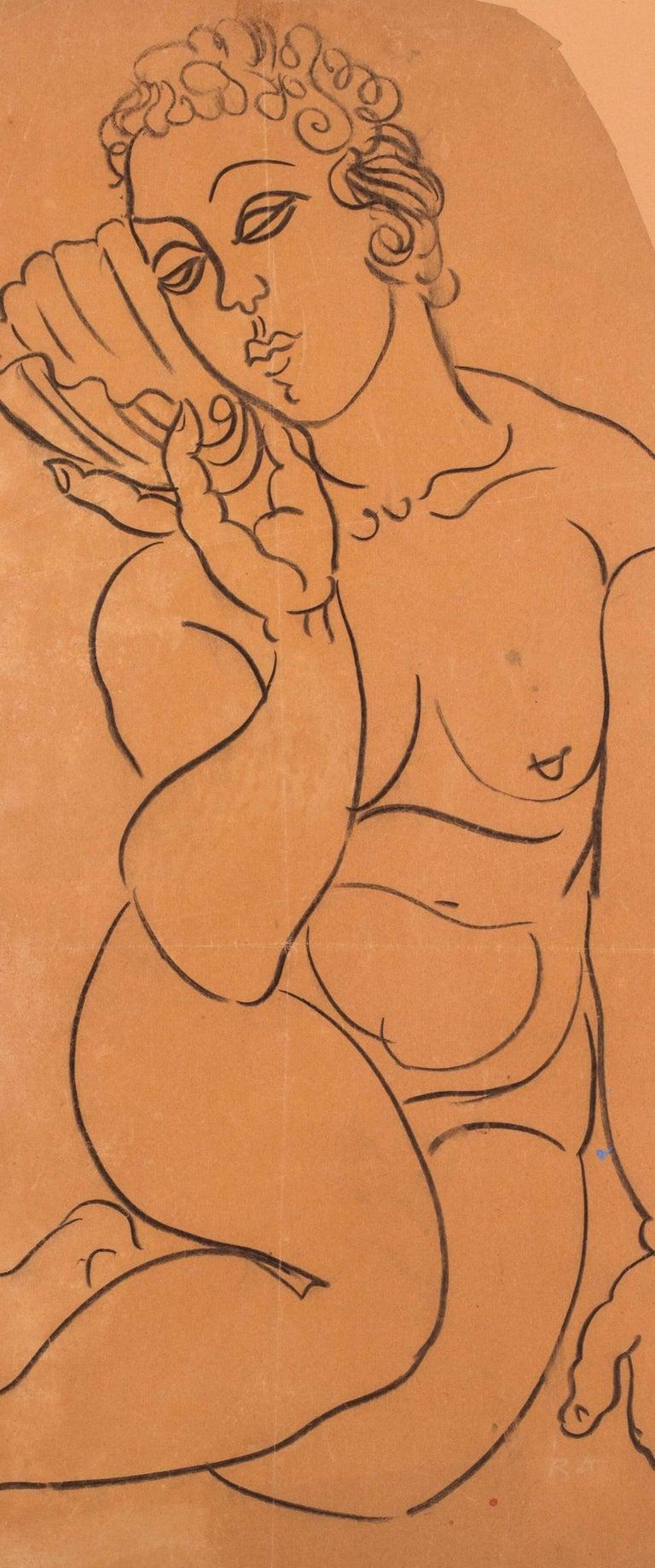 Vénus à la Coquille - Orange Nude by Raoul Dufy