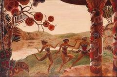 Muses dancing before a lake