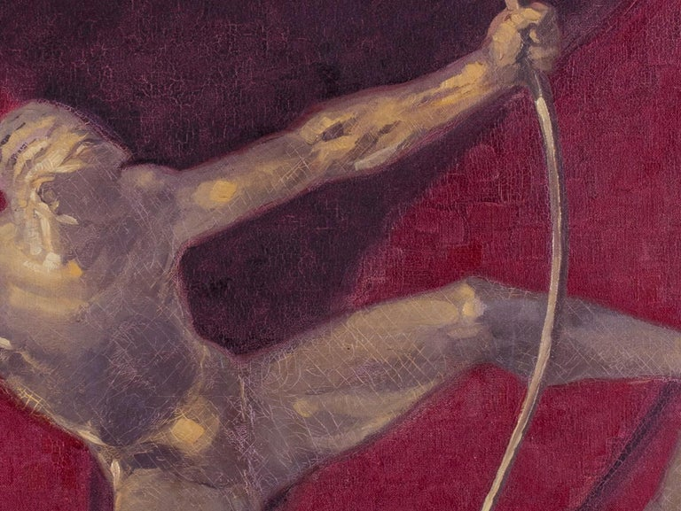 Heracles de Bourdelle (Hercules) - Black Figurative Painting by Edmond Maurus