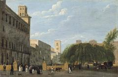 Figures in an Italianate Square