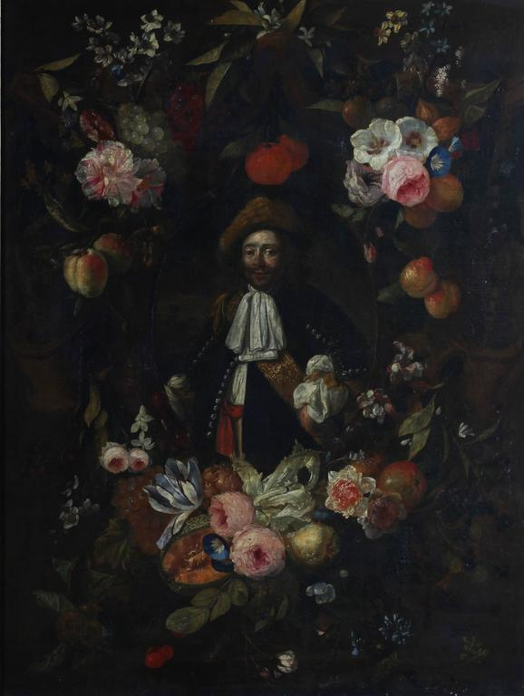 Unknown Figurative Painting - Oragnie Boven - Portrait of Michiel de Ruyter