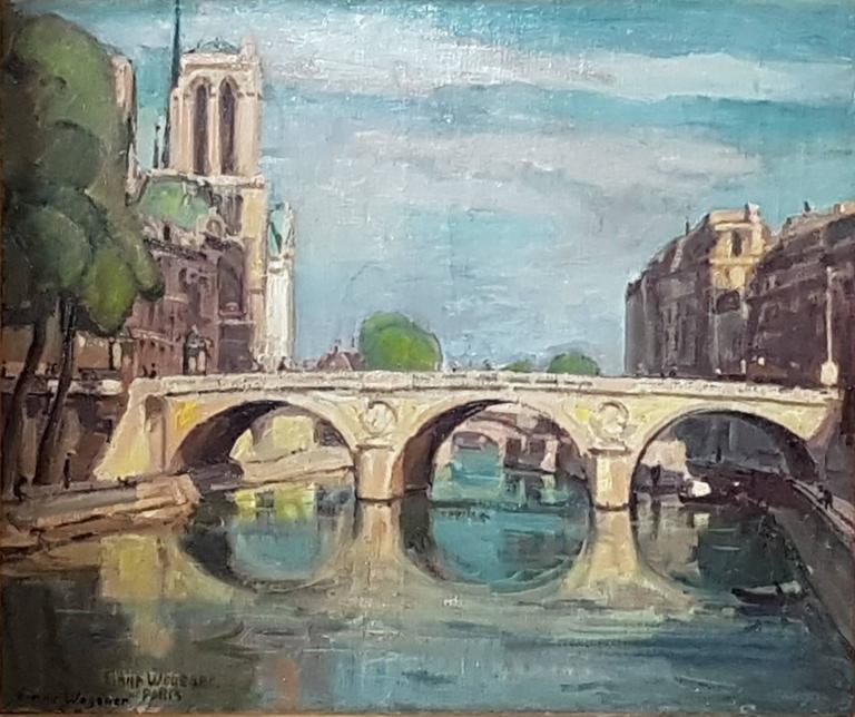 Einar Wegener - Le Pont Saint Michel, Paris 1