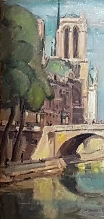 Einar Wegener (Danish, 1882-1931) 'Le Pont Saint Michel, Paris' Signed and inscribed 'Einar Wegener/Paris' (lower left) Oil on canvas 21.1/4 X 25.1/2in. (54 X 64.7cm.) (excluding frame) 22.3/4 x 26.3/4in. (including frame)