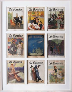 Set of 9 original magazine covers for the French Belle Epoque Publication 'Le So
