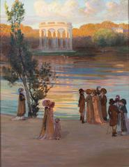 Scene du Directoire devant le Temple de 'l'amour, Versailles