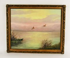 Hush on The Lake Landscape Painting