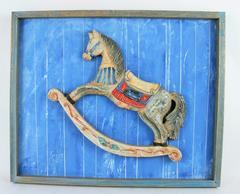 Folk Art Painting/Carving-Rocking Horse