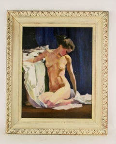 Nude on Blue by Waine
