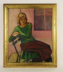 Pensive Woman by Santi