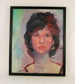 French Woman Portrait, signed 'Vanzina'