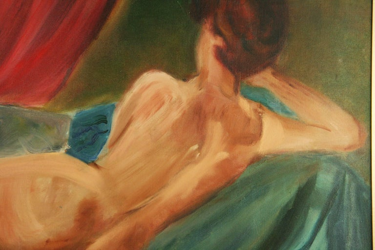Reclining Nude by Mirra - Painting by Unknown