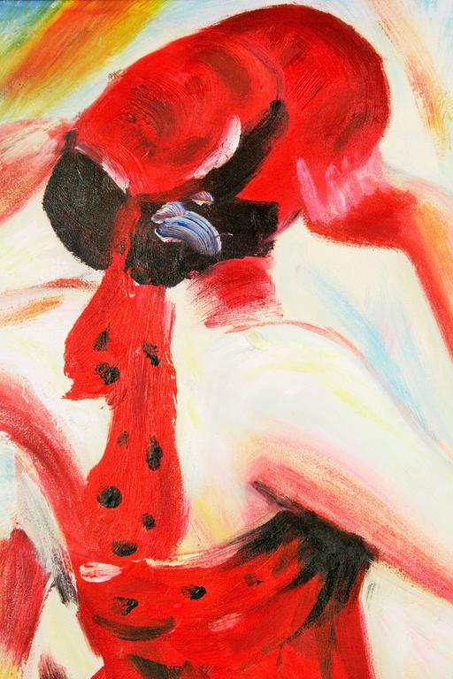 Fashionable Red Fashion Painting  For Sale 2