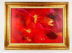 Oversized Red Abstract by Patrizia Russo