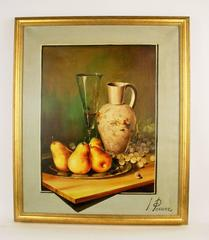 Pears and Champagne Stillife  by L.Perrier