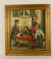 Going To the Vet Figural Painting