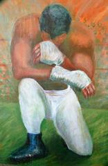 OVER SIZED  Painting Before The Fight
