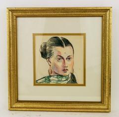 Pastel Female  Portrait by Margot
