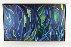 Vivid Blue  Sea Abstract Oversized  Painting