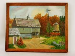 Fall on The Farm Landscape Painting
