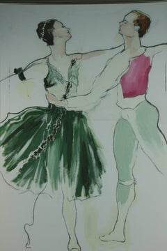 Oversized Figurative Ballet Painting