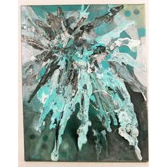 Unknown Blue Impasto Abstract Painting Painting For