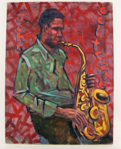 Coltrane  JAZZ Sax Man Figurative  Painting