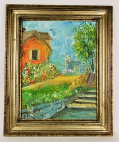 Impressionist Hudson Valley Country House Landscape  Painting
