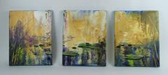 Lily Pads Tryptic  Painting