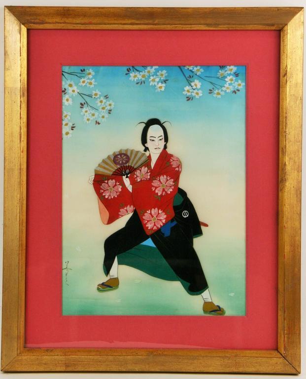 Japanese  Dancer Painting