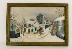 Rue A Montmatre. Paris Painting
