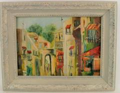 French Village Painting