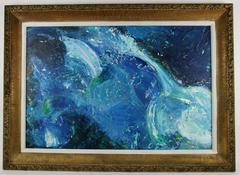 Blue Crash Painting