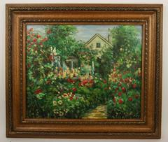Spring in The Garden Painting