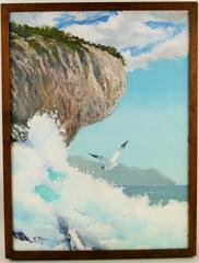 Pacific Coast Crashing Waves Painting