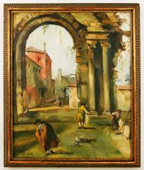 Old Rome Cityscape Painting