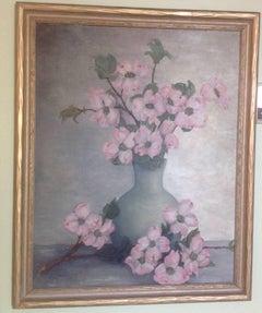 1930's Impressionist  Flowers Still Life Painting